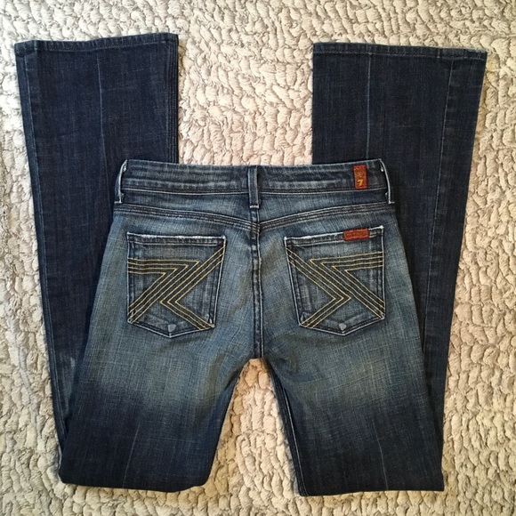 7 For All Mankind Denim - 7 for All Mankind Jeans   Flynt Gold   25x31